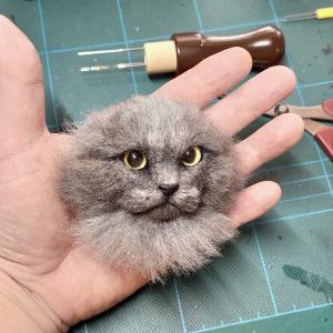 2月22日「猫の日」なので、羊毛フェルトの猫作品集~!!