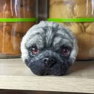 久々に「パグ犬」を作る!羊毛フェルト