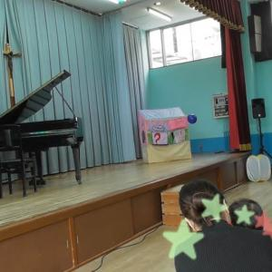 子育てイベント。ピアノがありました!!