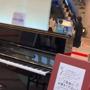 音楽がながれてたー!ストリートピアノ(^^)