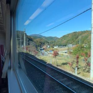 昨日は良いお天気でした!電車移動。