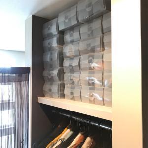 【5人家族の玄関収納/秋冬編】ダイソーとIKEAで使いやすい玄関に!靴の衣替えいるのかチェックもね。