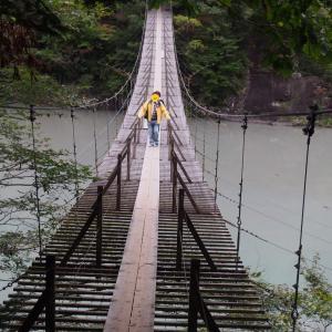 寸又峡夢の吊り橋絶景でした
