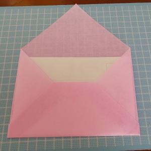 【ハンドメイド】和紙で封筒を作ってみました♪
