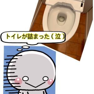 突然トイレが詰まりました(@_@)