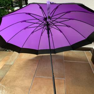 濡れると柄が浮き出る傘で雨の日も楽しくなる
