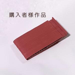 """【購入者様作品紹介】6人目 """"この赤しかないって、思っちゃったんです!""""折り畳み式スマホ・タブレ"""