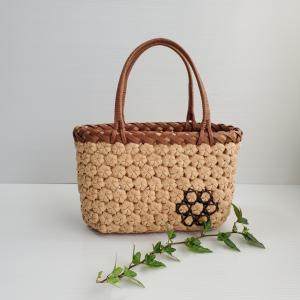完成!花結び編みのバッグ