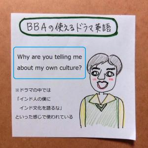 【BBAの使える英語】Why are you telling me about my own culture?~なんで君が僕の国の文化を僕に語る?