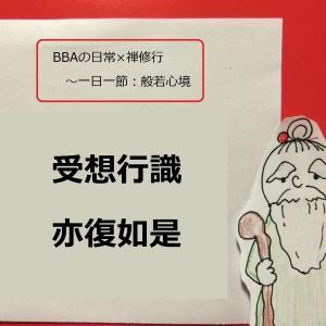 【BBAの精神修行】日常生活は禅修行~般若心経⑨(受想行識)亦復如是とは?