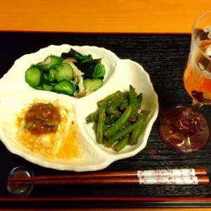 夕食と加賀鳶吟醸梅酒