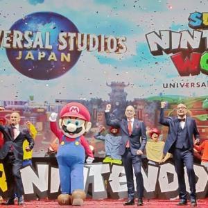 回る甲羅、動く雲、光るハテナBOX 任天堂ワールド USJ 7月6日 Super NINTENDO World