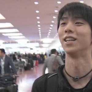 羽生選手が帰国!「いい感じに調整はしてきました」 NHK杯2019