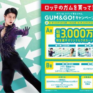 羽生選手のガムサーバー・QUOカード1万円分プレゼント ロッテキャンペーン