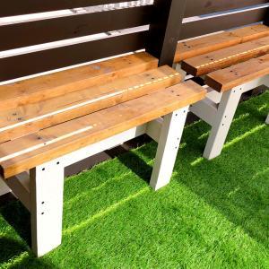 DIYでベンチとテーブルを作ったよ!