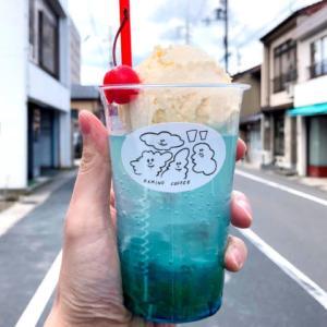 豊岡市千代田町にあるコーヒースタンド「カミノ珈琲」のクリームソーダが美味い!