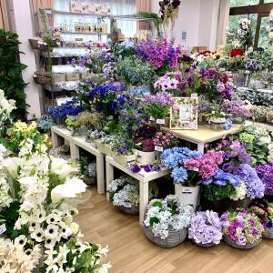お花の買い出しは心の癒し