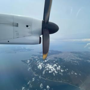 松山空港からプロペラ機 ANA1640便に乗って来ました!