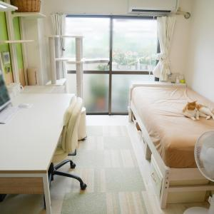 【一人暮らしのインテリア】家具のレイアウト変更後の8畳の居室