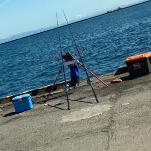 小樽港第二埠頭カレイ狙いの投げ釣り