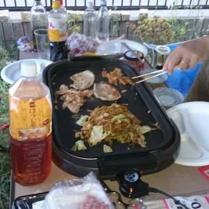 テントでお食事 今年初 ヽ(〃'▽`〃)ノイェーイ♪