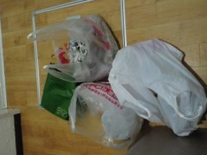 ゴミを冷蔵庫に保存する母。