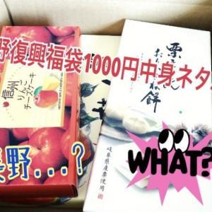 復興福袋 長野県お土産コミコミ1000円セット中身ネタバレ!〇倍入ってた!