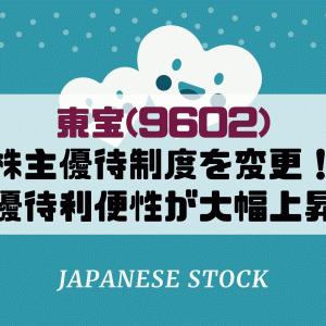東宝(9602)が株主優待制度を変更!利回りは下がるが利便性は向上です。今後の株価について予想は?