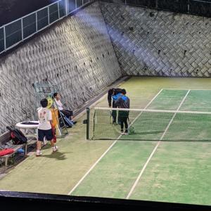 テニス練習…