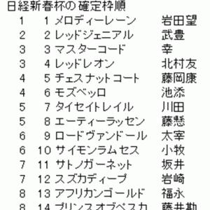 日経新春杯の確定枠順