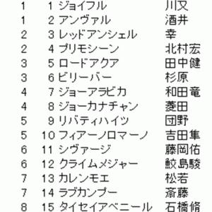 京阪杯の確定枠順