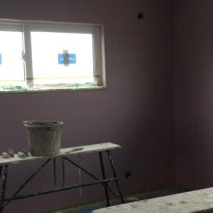 漆喰へ色付けを行いました。