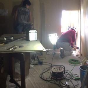 ホテルのリノベーション工事進捗状況。