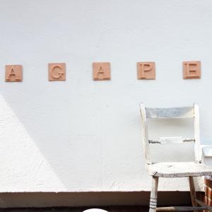 ※AGAPE CAFE※ 贅沢な桃パフェ※/@愛知 岡崎