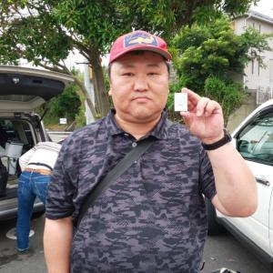 6月例会優勝 mirage さん。{野火、長沢、下浦)
