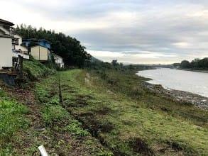 2019-10-14-台風19号水位低下の多摩川