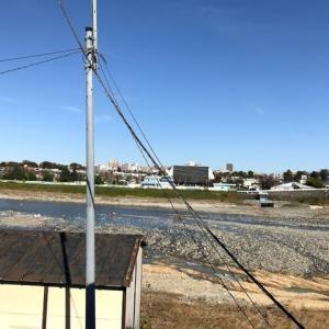 2019-11-17-多摩川の流れ2Fの窓から