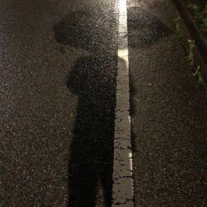 帰りの道中、雨が鬱陶しかった