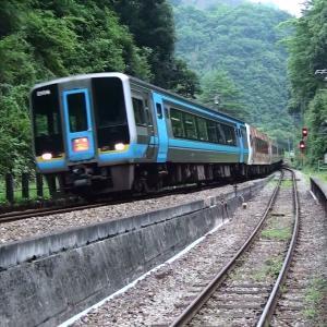 夫婦で全線完乗 2010年8月 坪尻駅と姫新線