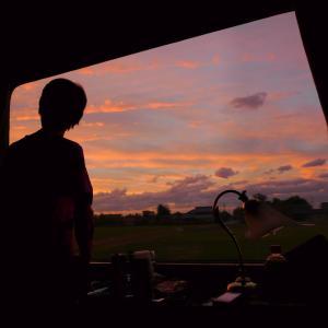 感動的なトワイライトタイム 夫婦で全線完乗 2010年10月 トワイライトで小樽へ -4