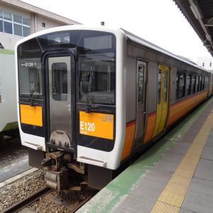 米沢城と長井・山形鉄道完乗 夫婦で全線完乗 2013年4月 米沢-2