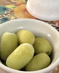 冷凍コットンキャンディー葡萄に感激 & 無水カレー作ってみました
