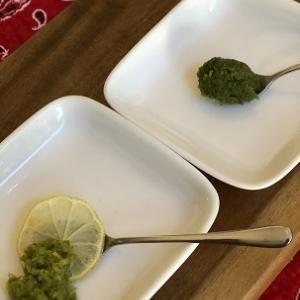 手作り柚子&檸檬胡椒のお味見
