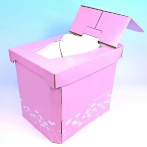 組み立てが簡単な非常用簡易トイレ