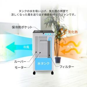 専用保冷剤搭載でより涼しい風を送れる冷風扇