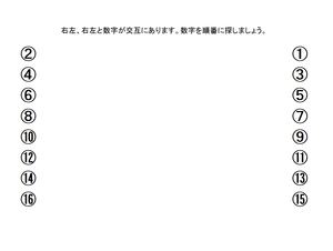 USN(半側空間無視)の訓練 ~無料プリント~
