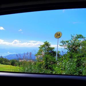 車窓から㉞の秋景色。