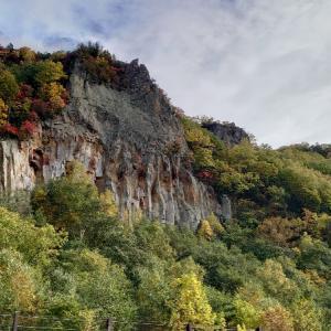 紅葉(層雲峡方面)