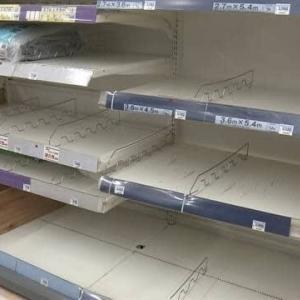 防災用品売り場は空っぽに!