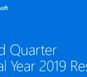 【2019-Q3】マイクロソフト(MSFT)の第3四半期決算発表